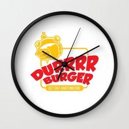 Durr Burger 2 Wall Clock