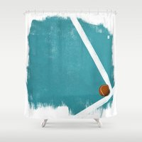 tennis Shower Curtains featuring Tennis by Matt Irving