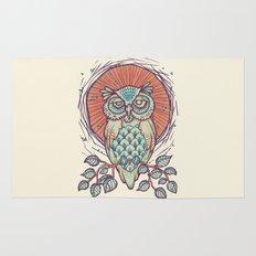 Owl on branch Rug