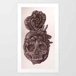 evil heart rose Art Print