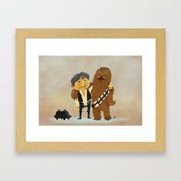 Han & Chewie BFFs Framed Art Print