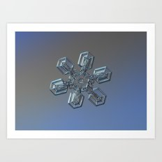 Real snowflake macro photo - High voltage Art Print