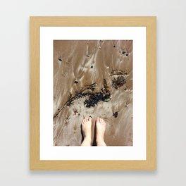 Sandy Toe Love Framed Art Print