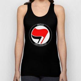 Proud Antifascist (white border) Unisex Tank Top