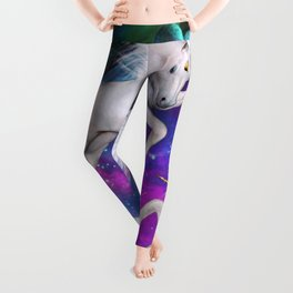 space unicorns v Leggings