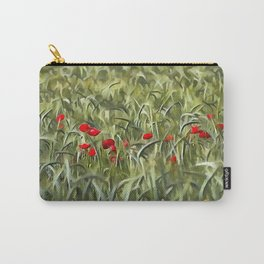 Cornfield Poppy Landscape Carry-All Pouch