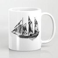 ship Mugs featuring Ship by LeahOwen