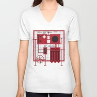 rocky horror V-neck T-shirts featuring Rocky Horror Control Panel by Shawn Hall Design