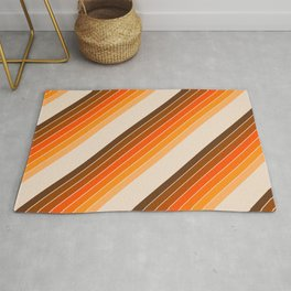 Tan Candy Stripe Rug