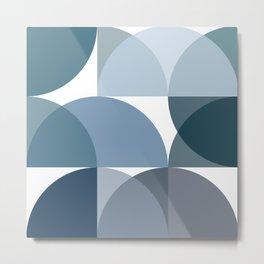 Blue semicircles Metal Print
