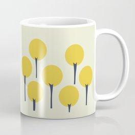 Yellow Pop Trees Coffee Mug