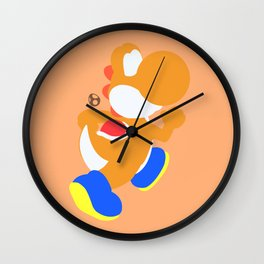 Yoshi(Smash)Orange Wall Clock