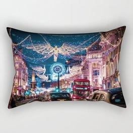 London Christmas Lights (Color) Rectangular Pillow