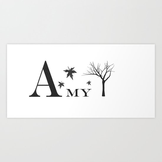 Amy Personalized Mug Art Print
