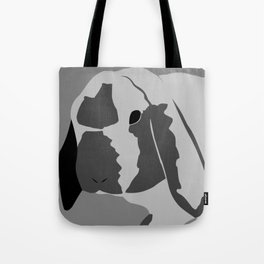 Black and White Bunny Tote Bag