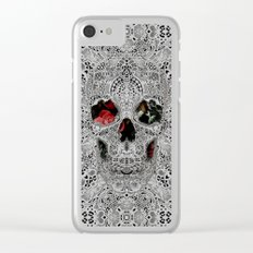 Lace Skull Light Clear iPhone Case