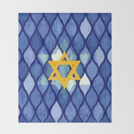 Jewish Celebration Throw Blanket