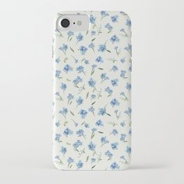 Forget Me Not Pattern iPhone Case