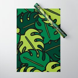 Monstera Leaf Pattern Wrapping Paper