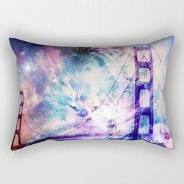ultra violet golden gate bridge Rectangular Pillow