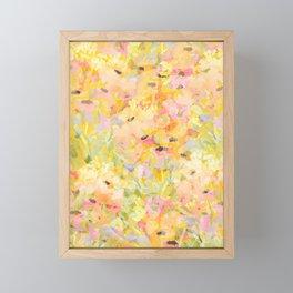 Buttercup Fields Forever Framed Mini Art Print
