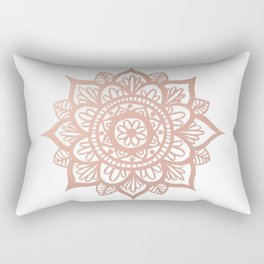 New Rose Gold Mandala Rectangular Pillow