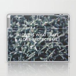 alone protects me Laptop & iPad Skin