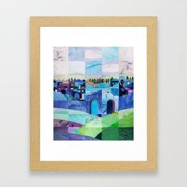 Jerusalem in Blue Framed Art Print