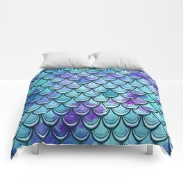 Mermaid Scales Watercolor Comforters