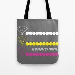 Konnichiwa 3 Tote Bag
