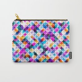 Colorful abstract geometric shapes illustration pattern  Carry-All Pouch