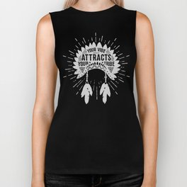 Your Vibe Attracts Your Tribe - Monument Valley Biker Tank