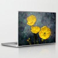iceland Laptop & iPad Skins featuring  Iceland poppy  by LudaNayvelt