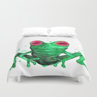 frog Duvet Covers featuring Frog by Bwiselizzy