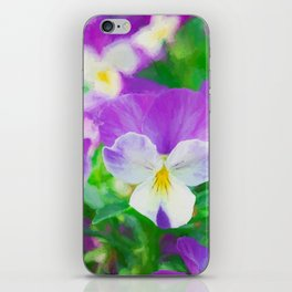 purple pansy in late spring iPhone Skin