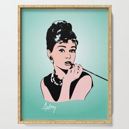 Audrey Hepburn - Tiffany - Pop Art Serving Tray