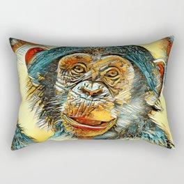 AnimalArt_Chimpanzee_20170602_by_JAMColorsSpecial Rectangular Pillow