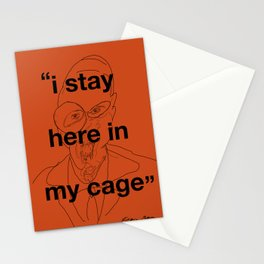 I Stay Here In My Cage Stationery Cards