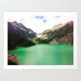 Turquoise Escape Art Print