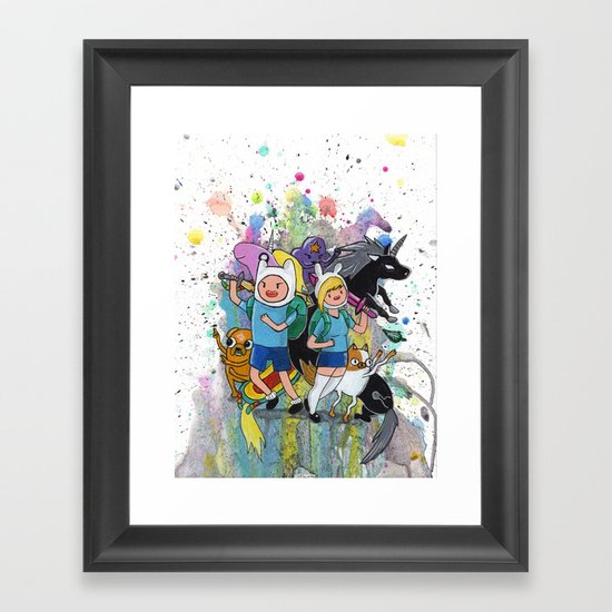 It's Time... It's ADVENTURE TIME Framed Art Print