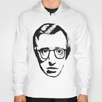 woody allen Hoodies featuring Woody Allen by Black Neon
