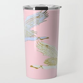 Angels on pink, Christmas Nutcracker ballet Travel Mug