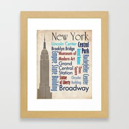 Travel - New York Framed Art Print