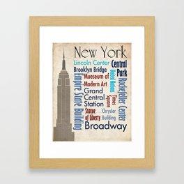 Travel - New York Framed Art Print
