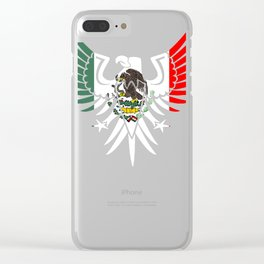 Mexican Design Coat Of Arms Clear iPhone Case