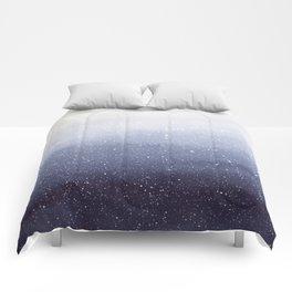 Falling Snow Comforters