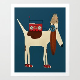 bootleg beagle  Art Print