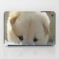 shiba inu iPad Cases featuring Shiba Inu Puppy by Blue Lightning Creative