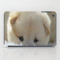 shiba iPad Cases featuring Shiba Inu Puppy by Blue Lightning Creative