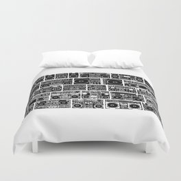 Sound of Wall Duvet Cover